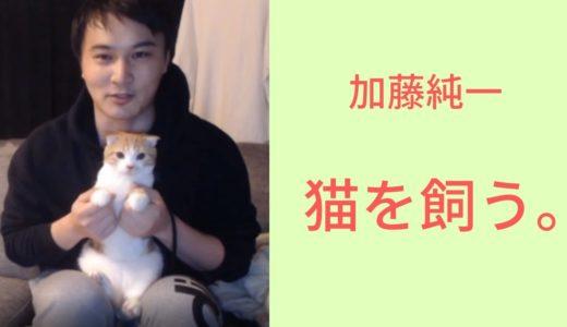 加藤純一、ねこを飼う。【2019/10/23】